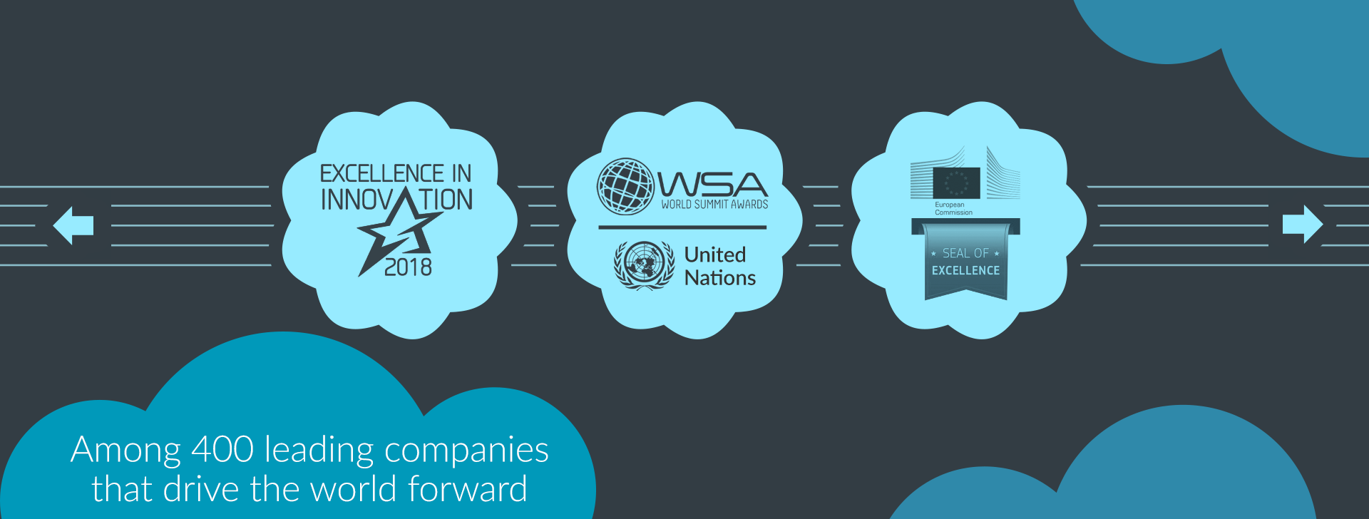 Among 400 leading companies that drive the world forward